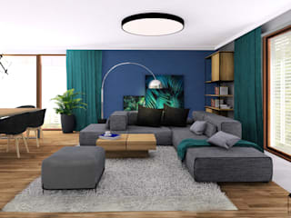 Modern Living Room by MARKOWNIA STUDIO ARCHITEKTURY Modern