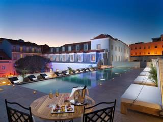 Hotel Palácio da Anunciada - Lioz Casas clássicas por Manuel & Cardoso-Pedras Naturais e Compostos Clássico
