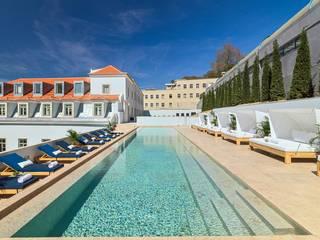 Hotel Palácio da Anunciada - Lioz Piscinas clássicas por Manuel & Cardoso-Pedras Naturais e Compostos Clássico