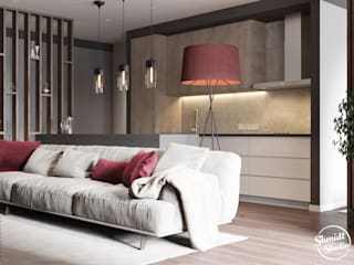 "Project ""Frank"", Minsk Shmidt Studio Modern Living Room"