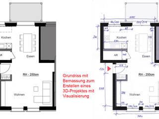 Beispiel von unserem Service MITKO DESIGN Wohnzimmer im Landhausstil