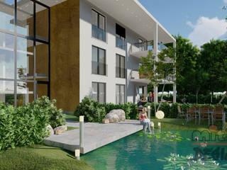 """Projekt mit 3D-Visualisierung von """"Mehrfamilienhaus"""" von MITKO DESIGN Modern"""