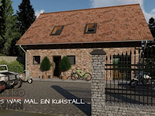 """Projekt und Visualisierung von Umbau """"Kuhstall zum Loft"""" MITKO DESIGN Einfamilienhaus"""