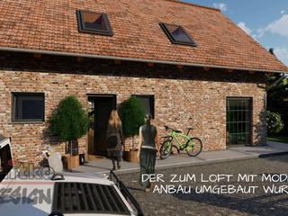 """Projekt und Visualisierung von Umbau """"Kuhstall zum Loft"""" MITKO DESIGN Landhaus"""