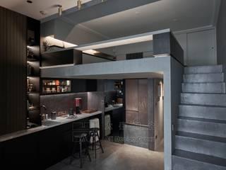 大器聯合室內裝修設計有限公司 Cocinas de estilo minimalista