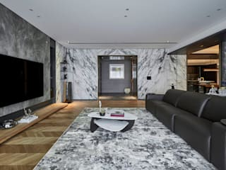 大器聯合室內裝修設計有限公司 Salones de estilo moderno