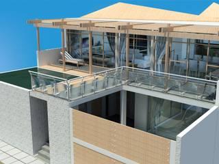 Casa de Playa San Marino Trazo Libre Arquitectos & Ingenieros SAC Casas de campo Concreto Blanco