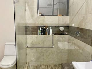 AR ALUMINIO & CRISTAL Baños modernos Vidrio