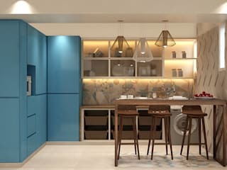 A Natural treatment Biophilic design for 4-BHK Mumbai home by Space Design Group - Mulund W Modern