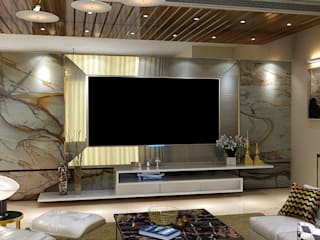Modern and Contemporary design for a 4 BHK Residence in Mumbai Modern living room by Space Design Group - Mulund W Modern