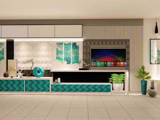 TV Wall Design Country style walls & floors by G.M Architects Country