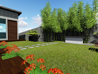 Front yard - Landscape of Residence by G.M Architects Country