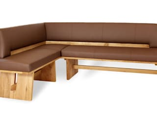 Naturnah Möbel Rustic style dining room Wood Brown