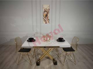 Hayal Concept Masa Sandalye Katalog Çekimleri Hayal Concept MutfakMasa & Oturma Grupları Ahşap Altın Sarısı