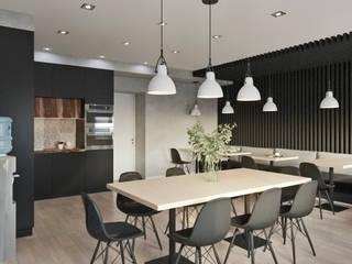 Дизайн офисных помещений общей площадью 1350м2 Столовая комната в стиле минимализм от Студия дизайна интерьеров Decodiz Минимализм