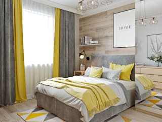 Дизайн двухкомнатной квартиры в скандинавском стиле от Студия дизайна интерьеров Decodiz Скандинавский