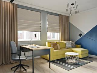 Дизайн двухкомнатной квартиры в скандинавском стиле Рабочий кабинет в скандинавском стиле от Студия дизайна интерьеров Decodiz Скандинавский