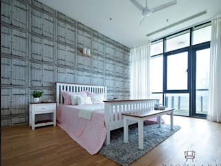 Modern and minimalistic residence design Minimalist bedroom by Rich & Aki Minimalist