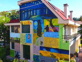 Casas de estilo ecléctico de Giovanni Beretta murales art Ecléctico