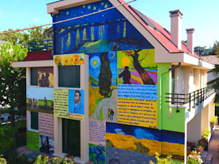 Souvenir de Vincent Van Gogh Case eclettiche di Giovanni Beretta murales art Eclettico