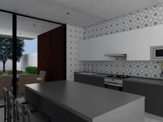 CASA R Cocinas de estilo moderno de GH Arquitectos Moderno
