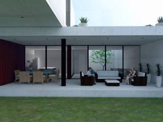 CASA R Balcones y terrazas minimalistas de GH Arquitectos Minimalista