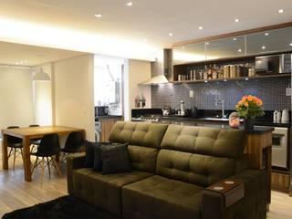 APARTAMENTO PETRÓPOLIS Salas de estar modernas por arquiteta aclaene de mello Moderno