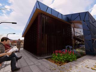 Diseño de portal de acceso PUERTO ANTOFAGASTA PORTEZUELO de ALICANTO - ARQUITECTURA, INGENIERÍA Y CONSTRUCCIÓN Moderno