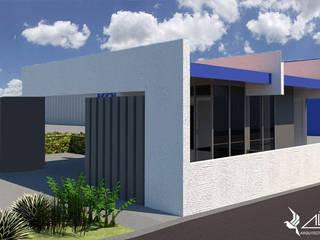 """Proyecto de arquitectura """"Garita control de acceso KOMATSU CUMMINS"""" de ALICANTO - ARQUITECTURA, INGENIERÍA Y CONSTRUCCIÓN"""
