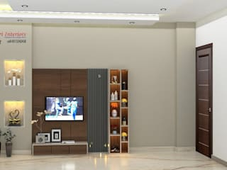 Space Planning, 3D Design, Concept, Theme Building, Builder Floor, Green Field Colony, Faridabad, Asri interiors, Renovation, home Improvement, Wallpaper Supplier Modern style bedroom by Asri Interiors Modern