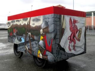 Carro Storico Carnevale di Ivrea 2017 di Giovanni Beretta murales art Eclettico