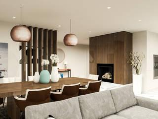 Projeto de Design de Interiores Habitação Unifamiliar Salas de jantar modernas por 88 Design & Paisagismo Moderno