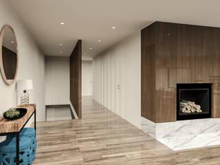 Projeto de Design de Interiores Habitação Unifamiliar Corredores, halls e escadas modernos por 88 Design & Paisagismo Moderno