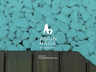 Asun Macia Decoradora 庭院泳池 木頭 Wood effect