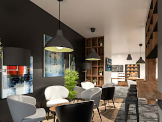 Projeto de Design de interiores Café Bar por 88 Design & Paisagismo Industrial