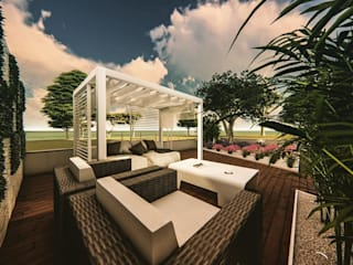Arranjo dos espaços exteriores de Habitação Unifamiliar Jardins minimalistas por 88 Design & Paisagismo Minimalista