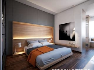 3D Of Masterbadroom by obrawal interior and architecture