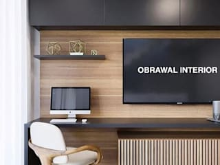 TV Unite : modern  by obrawal interior and architecture,Modern