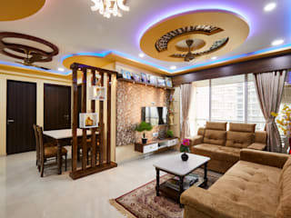 Interior Design – A Fresh Take On Traditional Style Beautiful 3 BHK Flat interiors design: modern  by Hollahomes.com,Modern