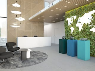 Wizualizacje wnętrz biurowych od T3 Atelier Nowoczesny