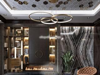 Полюбить мрамор в интерьере Гостиная в стиле модерн от Студия Luxury Antonovich Design Модерн