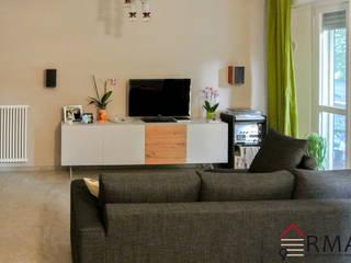 Ristrutturazione appartamento di 75 mq a Milano, Città Studi Soggiorno moderno di RMA srl - Ristrutturazioni da ManuAle Moderno