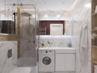 Кухня-гостиная для молодой семьи. Ванная комната в стиле минимализм от iHome Design Studio Минимализм