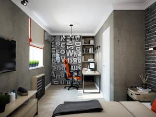 2 этаж. Комната подростка Детская комнатa в скандинавском стиле от Дизайнер Ольга Крысова Скандинавский