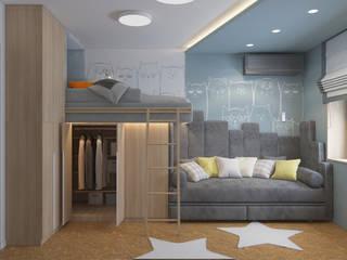 Детская комната для двух детей от iHome Design Studio Скандинавский