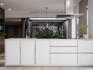 cozinha sala de jantar e ambiente sala de estar Alpha Details Armários de cozinha