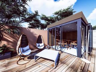 Projeto de Requalificação dos espaços exteriores de Moradia Unifamiliar Piscinas modernas por 88 Design & Paisagismo Moderno