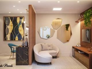Moderne Wohnzimmer von Camila Pimenta | Arquitetura + Interiores Modern