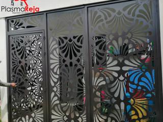 Protección con puerta abatible Bares y clubs de estilo moderno de Plasma Reja Moderno