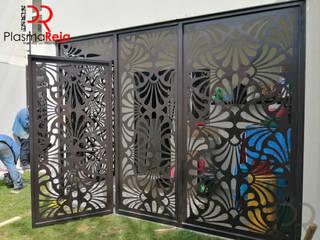 Protección con puerta abatible Locaciones para eventos de estilo moderno de Plasma Reja Moderno